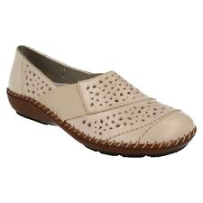 46f12598f item 4 LADIES RIEKER 44856 FLAT CASUAL LEATHER SLIP ON EVERYDAY SUMMER SHOES  SIZE -LADIES RIEKER 44856 FLAT CASUAL LEATHER SLIP ON EVERYDAY SUMMER SHOES  ...