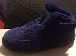 brand new 79aa3 75d41 Details about Nike Air Force 1 High LV8 GS Youth Suede Blue Void Gum Bottom  807617 401 CN