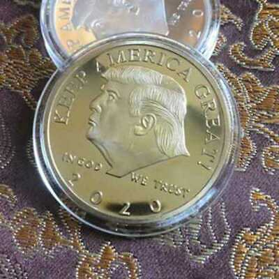2020 President Donald Trump Gold Plated Eagle Commemorative Coin Ebay