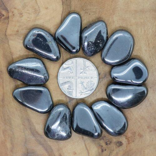 11 x Hematite Tumblestones 33-103g *CHOOSE YOUR SET* Grounding Energy HM5