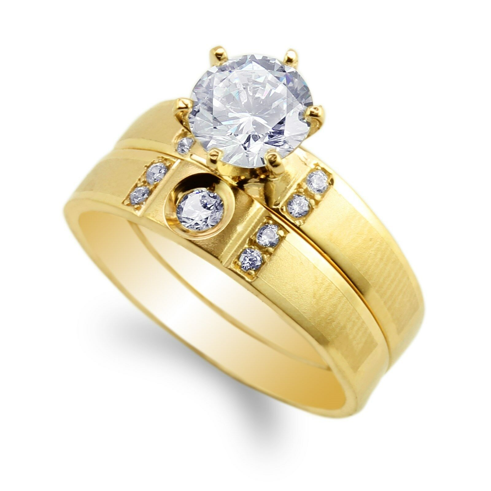 856941135b30 JamesJenny Womens gold Plated Engagement Set Ring Size 4-9 Yellow  ngxwrd5352-Rings