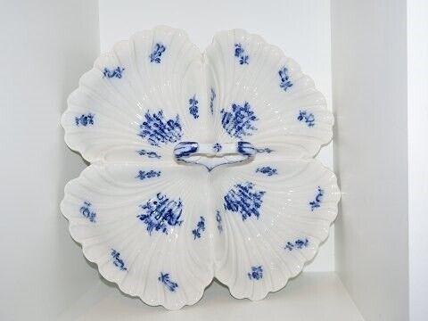 Porcelæn, Blå Blomst  Ekstra stort cabaretfad fra...,