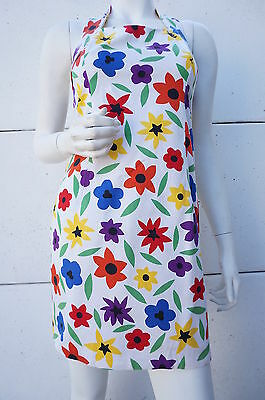 Robe Dress DOS NU Fleurs Kitch Vintage 70 VTG SEVENTIES T 36 Mini Hippie