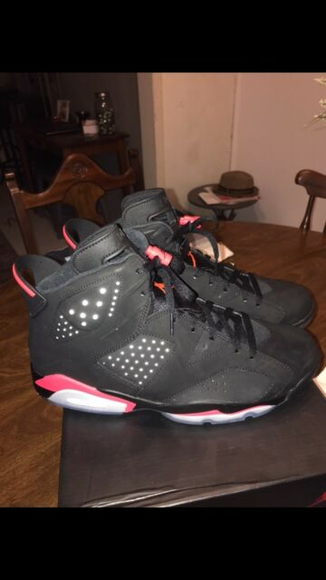 buy online 99b43 06859 2014 DS Nike Air Jordan 6 VI Retro Black Infrared 23 384664-023 Size 11