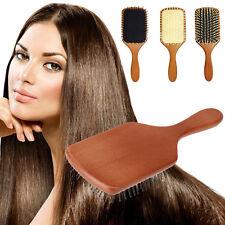 Unisex Women Girl Trendy Bamboo Wooden Hair Brush Beauty Massager Massage Comb A