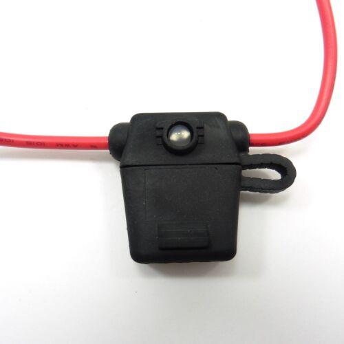 Standard Waterproof Fuse Holder with LED Blown Light Indicator Car Auto Box #B23