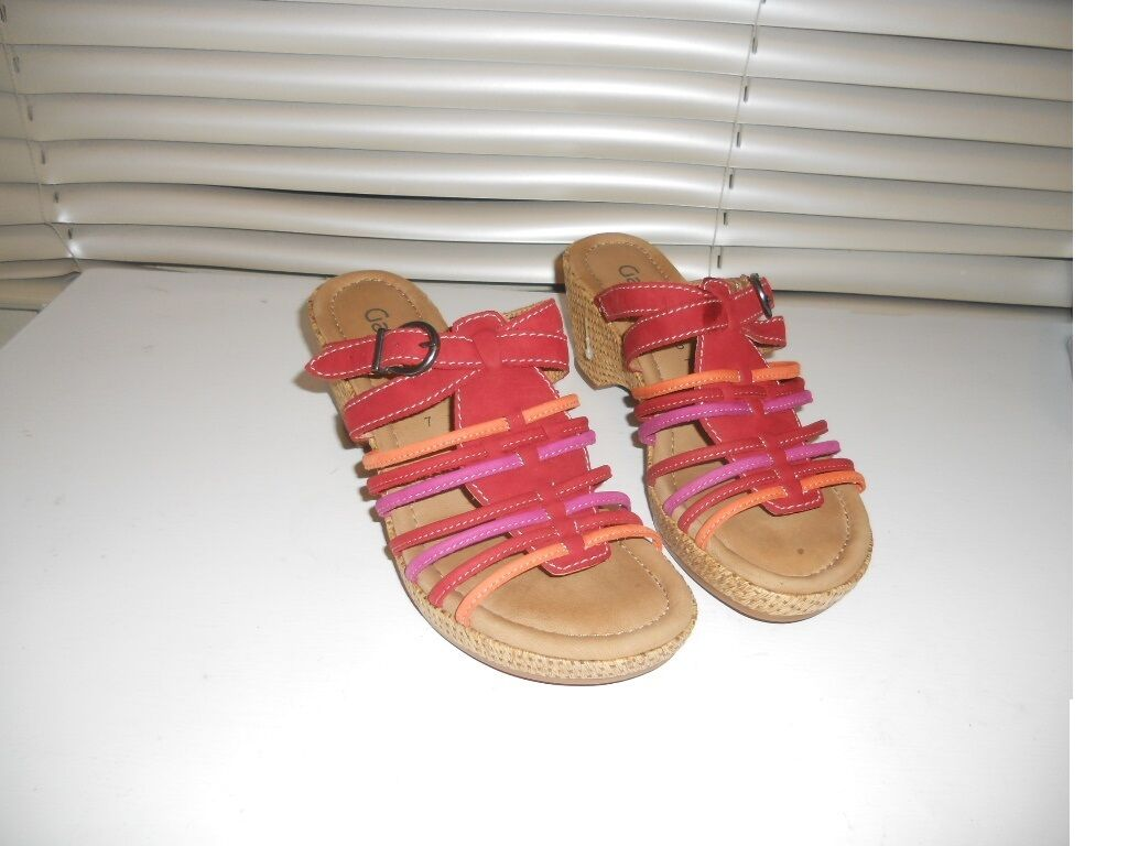 Gabor Germany ~ Art to Wear ~ Reds Platform US9 Comfort Sandals Shoes UK7 US9 Platform 450cee