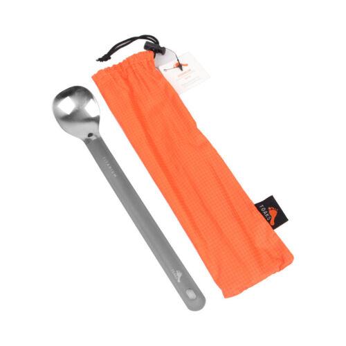 TOAKS Titanium  Long-handled Titanium Spoon Camping Spoon Outdoor Tableware