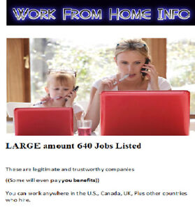 Work From Home Work At Jobs Work From Home Job How To Make Money 640 Jobs Wow Ebay