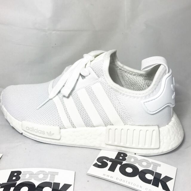 Adidas NMD R1 Triple White 3M REFLECTIVE BA7245 Size 4-11 GS Mens Boost