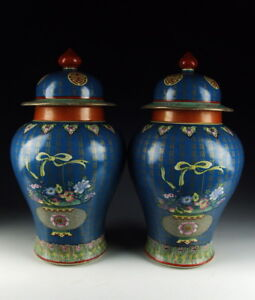 One Pair of Chinese Antique Famille Rose Porcelain Vases