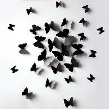 12 PCS 3D Wall Stickers Butterfly Fridge Magnet For Home Decoration Butterfly OK