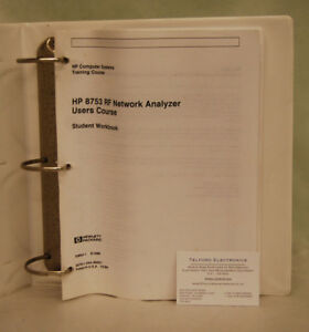 Details about HP8753 RF Network Analyzer Users Course Student Book
