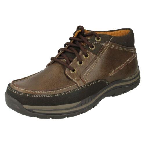 stivaletti Cason Skechers scarpe cioccolato Foam Up 64538 casual in Lace pelle Memoray Mens OUAvw5qgO