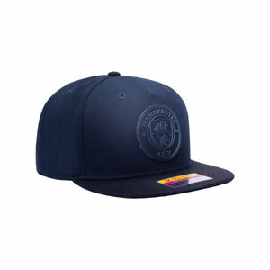 Manchester City Premium Blue Flat Peak Snapback Elite Baseball Hat Official