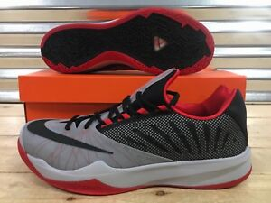 ef3a7eca92cb8 Nike Zoom Run The One Shoes Harden Wolf Grey Red Black SZ 11.5 ...