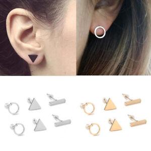 Betret Triangle Shape Cubic Zirconia Ear Stud Earrings for Women Girls