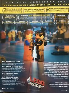 The Lego Batman Movie With Wyldstyle For Your Consideration Oscar Ad Rare Ebay