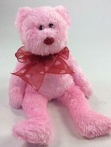 """""""My Sweet"""" TY Beanie Baby, Pink/Red Bow, 2007, 9"""" Will Set by Self, Collectable"""