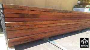Redgum-Red-Gum-Sleepers-200-x-50mm-x-2-7mtrs-Treated-Pine-Gal-H-C-Steel-Channels