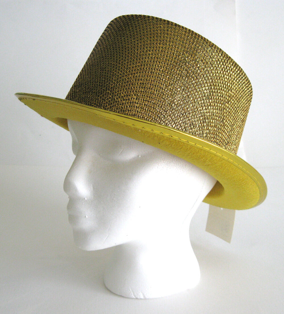 748acc366d0a71 Deluxe Gold Glitter Top Hat Columbia Cap Adult Halloween Costume Hat ...