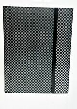 "8x12"" Professional Peel & Stick Wedding Album, 20page/40photos Black and Silver"