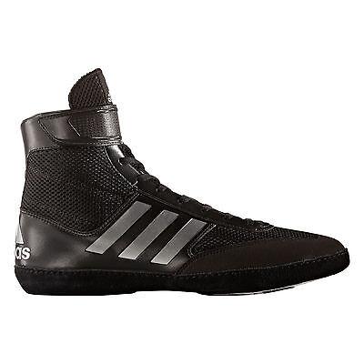 ADIDAS PRETEREO III 3 Wrestling Shoes MMA Boxing Black Silver AQ3291 Mens Size 8
