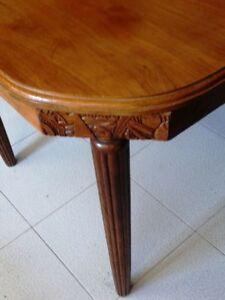 Dettagli su tavolo rovere rettangolare allungabile Decò francese