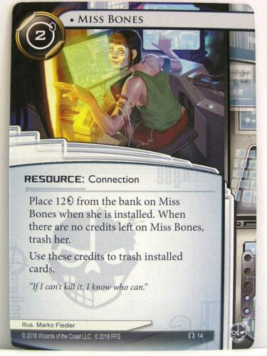 Reign and Reverie 1x #014 Miss Bones Android Netrunner LCG