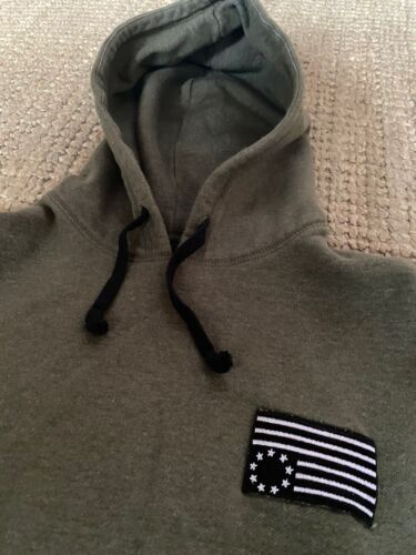 Black Scale Green Flag Hoodie LARGE