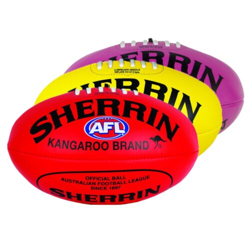Sherrin Soft Touch Youth 25cm PVC Football Red Yellow Pink