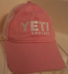 966335f55883c New ~ YETI COOLERS ~ Ladies Pink White Low Profile Mesh Trucker Hat ...