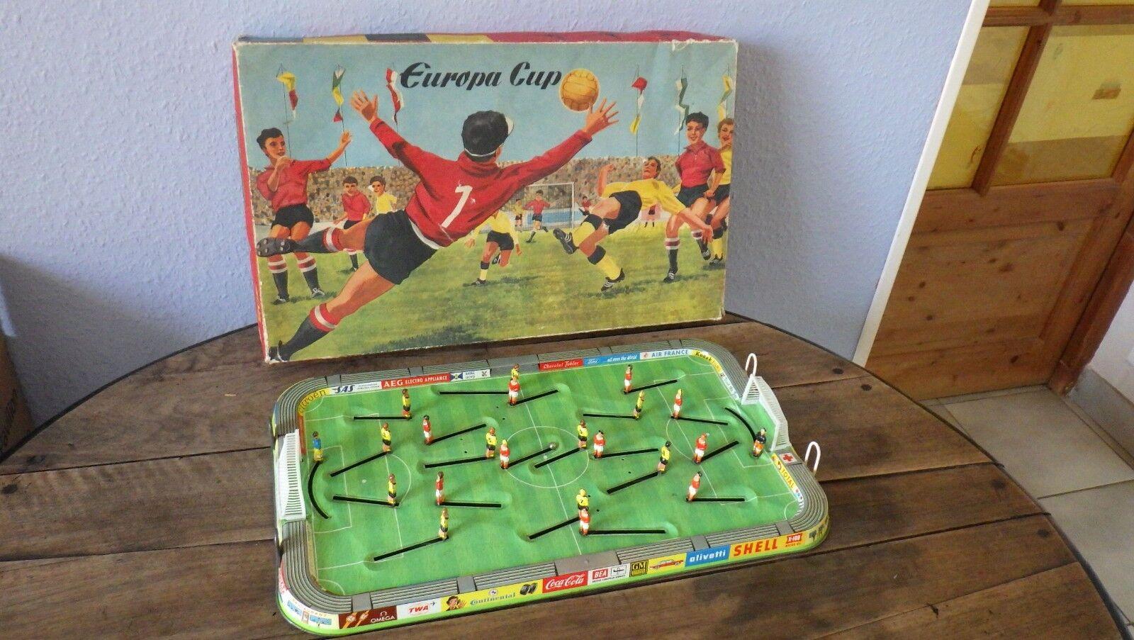 TECHNOFIX circa. 1965 EUROPA CUP Football Game + Boite     Bel etat VGC 0741ee