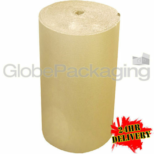 1000mm x 75m CORRUGATED CARDBOARD PAPER ROLL 75 METRES - STRONG PACKAGING 24HRS