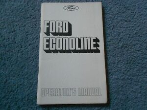 ford econoline club wagon owners guide manual