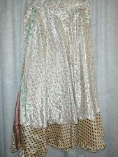 Wevez Size 1X 2X 3X Silk Blend Reversible Wrap Hippie Boho Casual Skirt NWTS 14