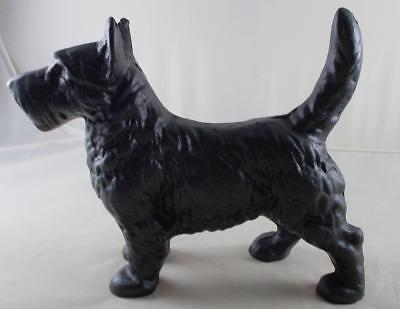 Cast Iron Scottish Terrier Dog Statue Black Enamel Scottie Home Decor Door Stop Ebay