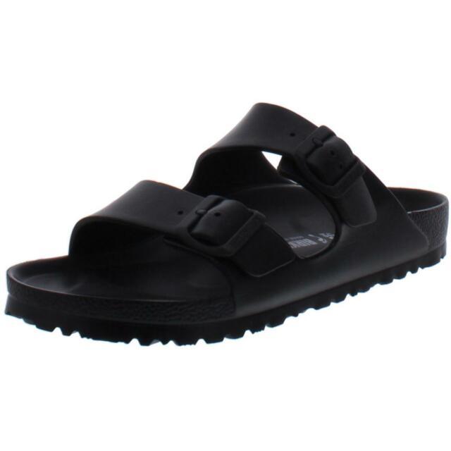 Birkenstock Boys Arizona Eva Black Buckle Footbed Sandals Shoes 40 BHFO 3148