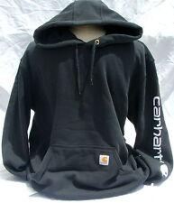 Carhartt K288 Midweight Hooded Logo Sweatshirt - Black - Large