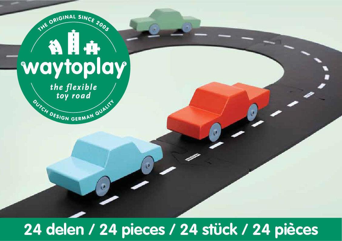 Way To Play, Autostraße, Spielstraße Puzzle, Straßenelementen, Straßen-Bausatz