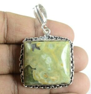 Handmade Gift Items Natural Solar Slice /& 925 Silver Plated Pendant Gemstone Jewelry