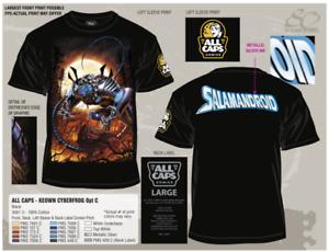 New! SALAMANDROID T-Shirt with DALE KEOWN Art! CyberFrog! ALL CAPS COMICS!