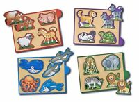 Melissa And Doug Animals Mini-puzzle Pack , New, Free Shipping