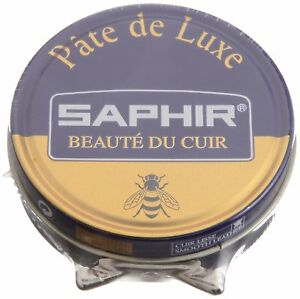 Saphir-Shoe-Polish-Wax-Pate-De-Luxe-50ml-Made-in-France-ALL-COLORS