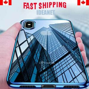 Clear-Silicone-Slim-Soft-Case-Cover-For-iPhone-6-6S-7-8-Plus-XS-XR-Plated-Bumper