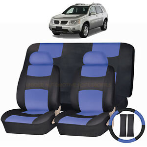 Outstanding Details About Pu Leather Blue Black Seat Covers 11Pc Set For Pontiac Torrent Aztec Pabps2019 Chair Design Images Pabps2019Com