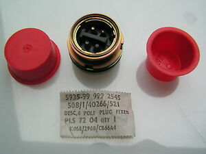 Plessey-Connector-508-1-40266-521-4-Pin-Plug-Mil-spec-style-OM488