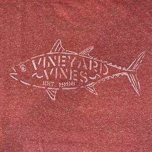 Vineyard-Vines-Men-s-S-S-Pocket-T-Shirt-Tuna-Stencil-Jetty-Red-Sz-2XL-NEW-TAGS