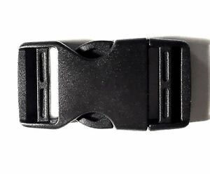 """1 x High Quality Fastex Side Release Buckle Black For 25mm 1/"""" Molle Webbing"""