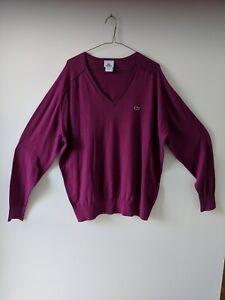 a2079af03ab Details about Men's Lacoste V-Neck Cotton Cashmere Knit Sweater Jumper  Size7 US (XL) Brand New
